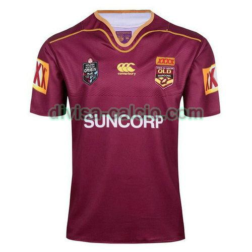 maglia rugby uomo qld maroons 2017-2018 rosso