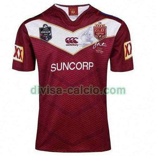 maglia rugby uomo qld maroons thurston 2018 rosso