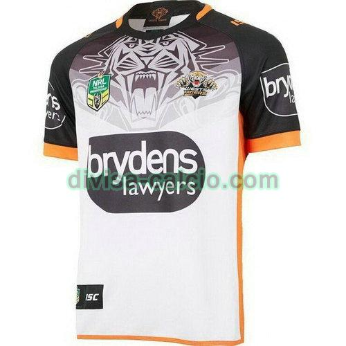 maglia rugby uomo seconda wests tigers 2018 bianco