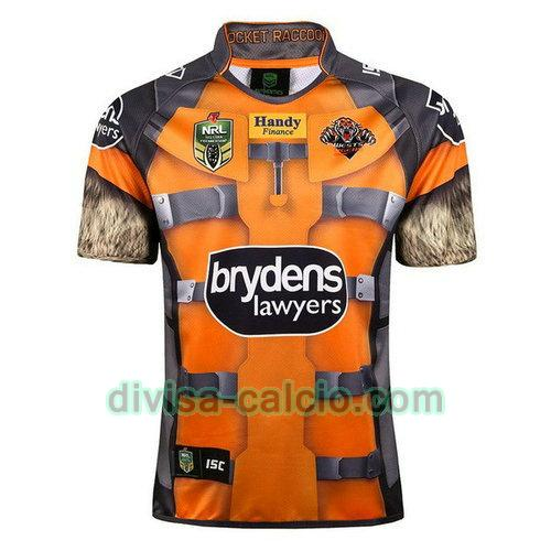 maglia rugby uomo wests tigers 2017-2018 giallo
