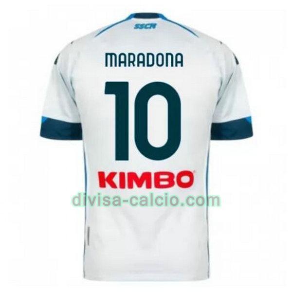 Divisa calcio: maglia uomo seconda napoli 2020-2021 maradona 10 ...